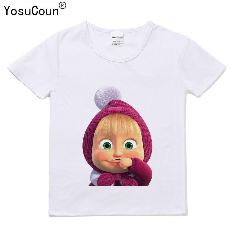 Masha Bear T shirt Children's T-shirt Girl T-shirts For Kids Tops Girls T shirt For Baby Kid Girls Masha And The Bear T105X футболка для девочки t shirt 2015 t t 2 6 girl t shirt