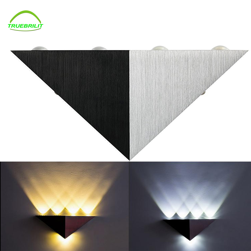 led wall light 3W 5W Aluminum Triangle energy saving led Home lighting lamp indoor & outdoor decoration lighting Bulb 85-220V