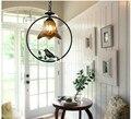 D37cm Скандинавская Подвесная лампа  богемная винтажная деревенская птица  подвесной светильник  европейский LED E27 110V220V  декоративная Подвесн...
