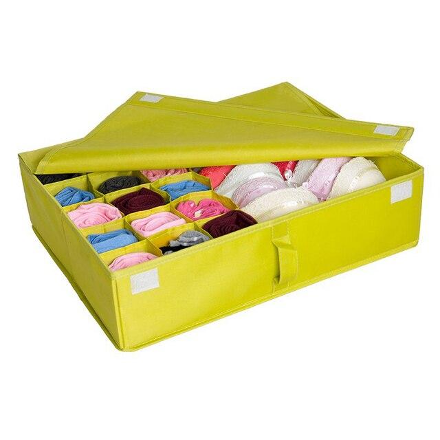 Красочные Моющиеся Складной Инструменты Хранения Box Нижнее Белье носок бюстгальтер организатор бункеры хранения одежды Бесплатная доставка