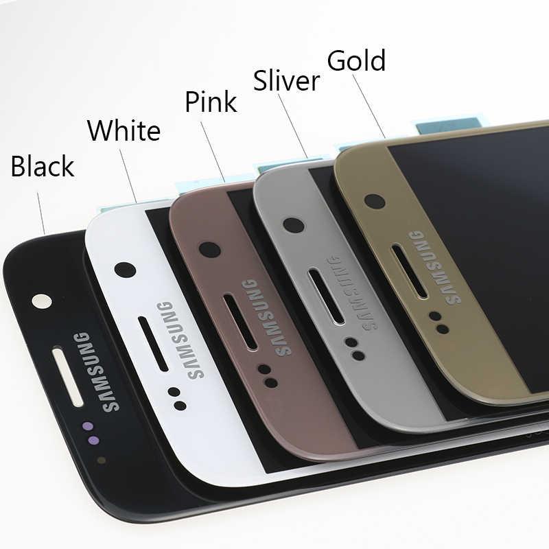 جديد سوبر AMOLED 5.1 ''LCD استبدال مع الإطار لسامسونج غالاكسي S7 عرض G930 G930F شاشة تعمل باللمس محول الأرقام + حزمة الخدمة