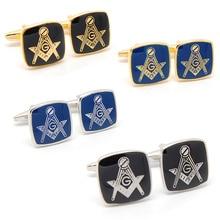 Gold Masonic  Coin  Cufflinks
