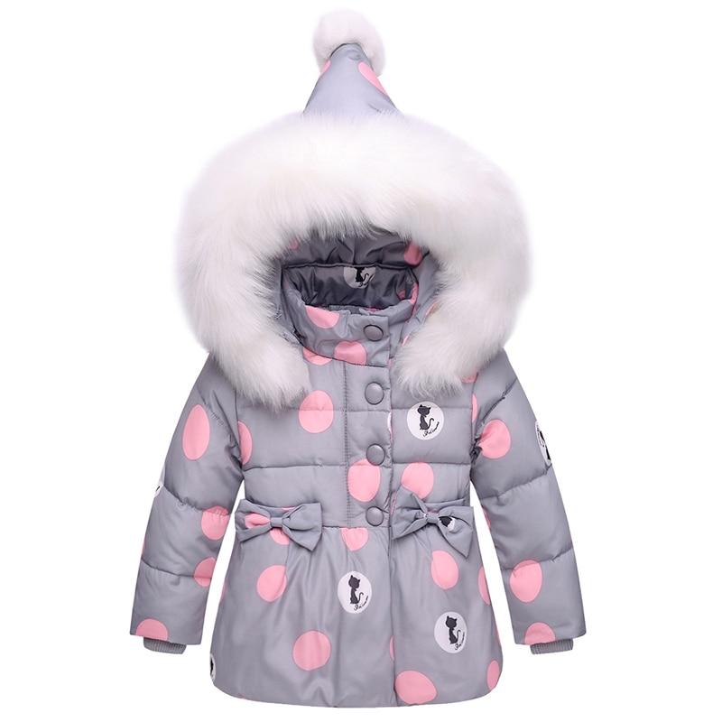 Kids Clothes Girls Down Coat Children Warm Toddler Snowsuit Outerwear + Romper Clothing Set Russian children's Winter jackets