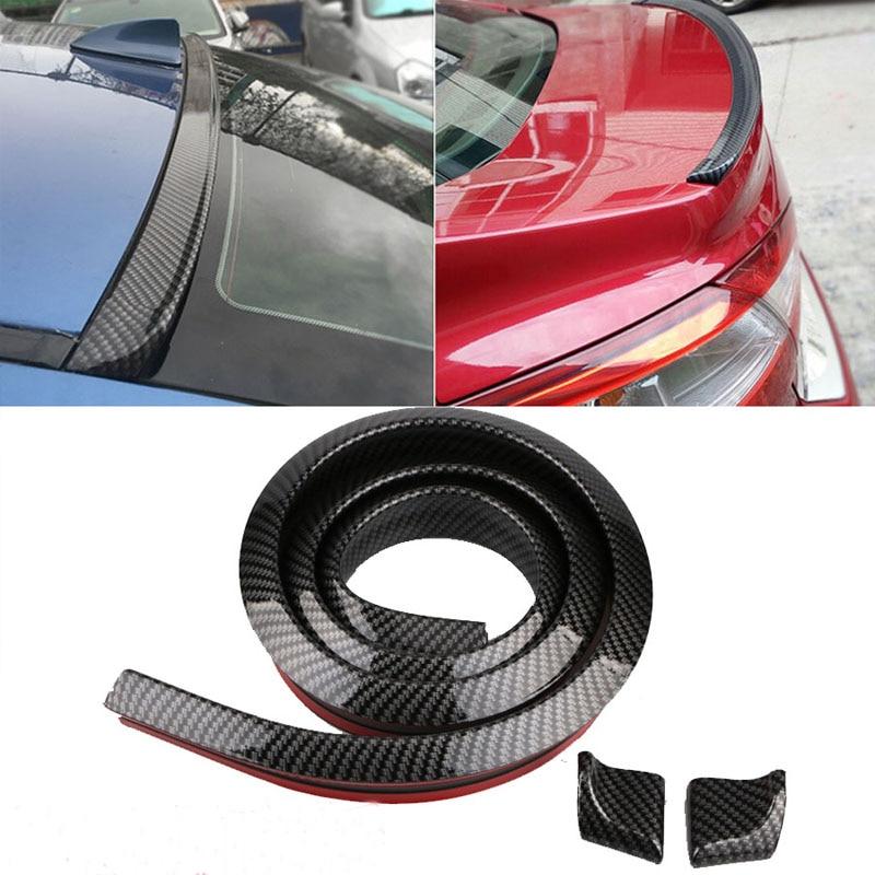 1.5M Car-Styling 5D Carbon Fiber Spoilers Styling DIY Refit Spoiler For Audi BMW Toyota Honda KIA Hyundai Opel Mazda Ford Skoda(China)
