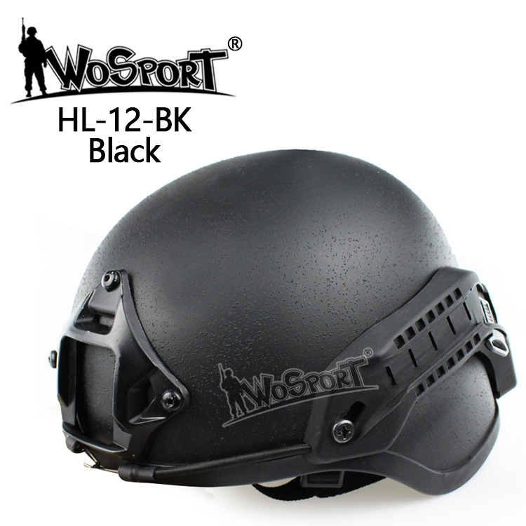 WoSporT  Tactical Emerson ACH MICH 2000 Military Helmet with NVG Mount and Side Rail for CS Combat Helmet high quality outdoor airframe style helmet airsoft paintball protective abs lightweight with nvg mount tactical military helmet