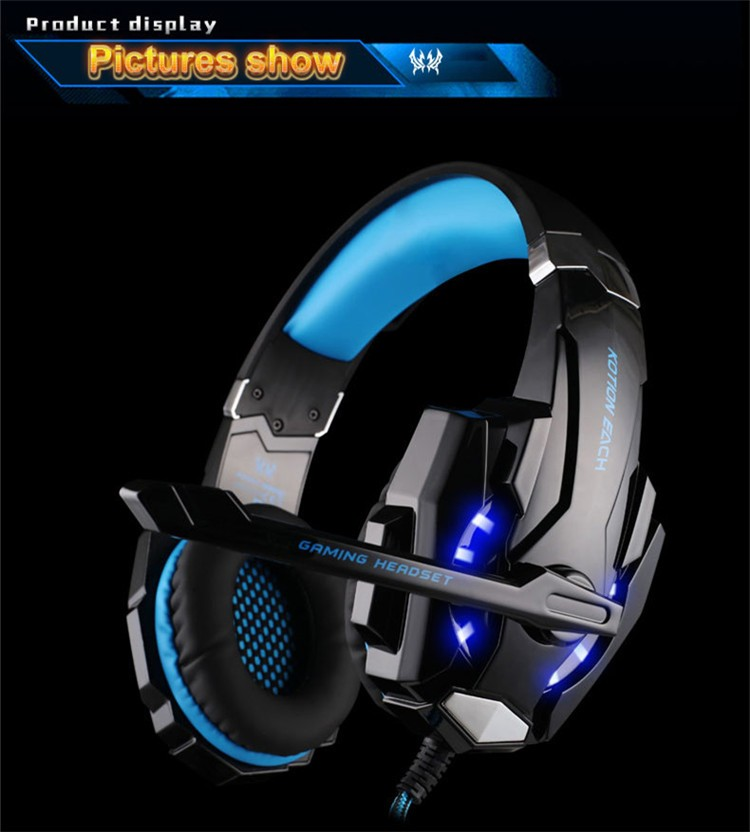 G9000 USB 7.1 Surround Sound Version Game Gaming Headphone Computer Headset Earphone Headband with Microphone LED Light (10)