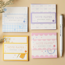 Buy 4pcs School dream memo pad set Sweet color lace paper note mini post Diary planner marker it notes gift Stationery Office F602 directly from merchant!