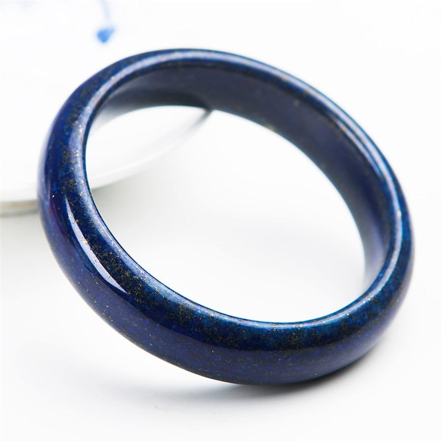 2017 bracelets en pierre naturelle de mode pour les femmes cadeau de la mère véritable bleu or Lapis Lazuli bracelet diamètre intérieur 56mm - 2