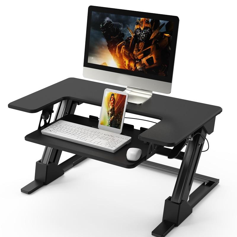 Standing Adjustable Computer Desk Hand Lift Foldable