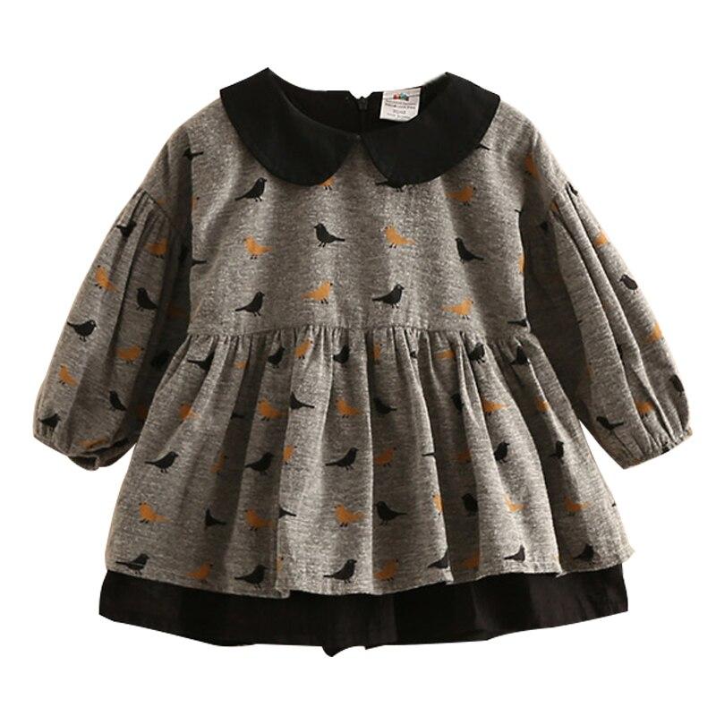 От 2 до 10 лет Обувь для девочек Одежда маленьких платье с воротником Питер Пэн