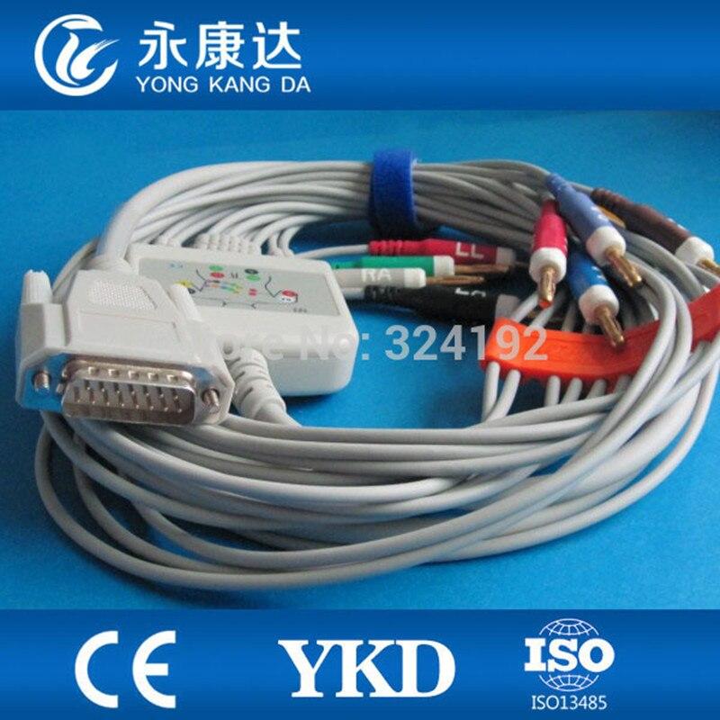 Free shipping Nihon Kohden 9130 10-lead EKG cable AHA banana 4.0 4.7K resistanceFree shipping Nihon Kohden 9130 10-lead EKG cable AHA banana 4.0 4.7K resistance