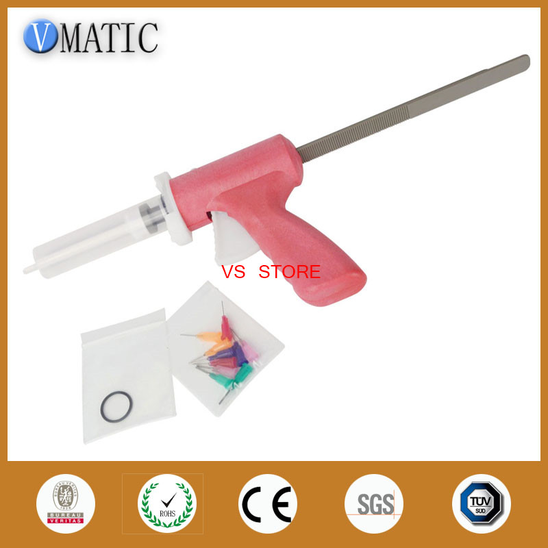 лучшая цена New Arrival Manual Syringe Gun Dispenser 10cc Glue Manual Dispensing Caulking Gun