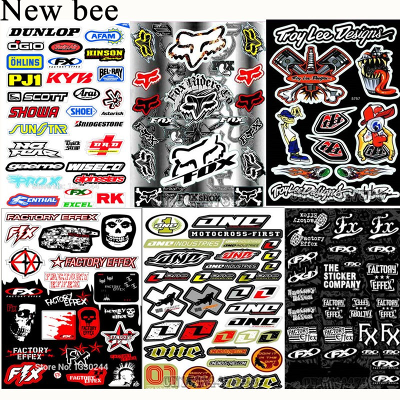 Newbee Fashion Bicycle Motorcycle Car Sticker Decal Skateboard Graffiti Snowboard Luggage Bag Laptop Helmet Guitar Vinyl(China)