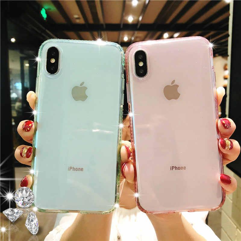 ... Diamond Beautiful Women Glitter TPU Phone Cases For iphone XS MAX XR X  SE 5 5s ... de704d64ab