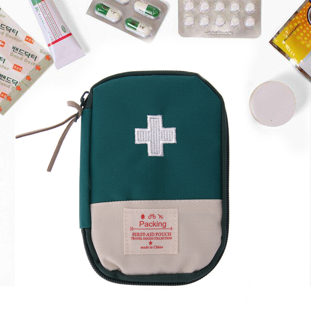 New Portable Mini Outdoor Camping Home Emergency Survival Travel Portable First Aid Kit Bag Case Climbing Accessories