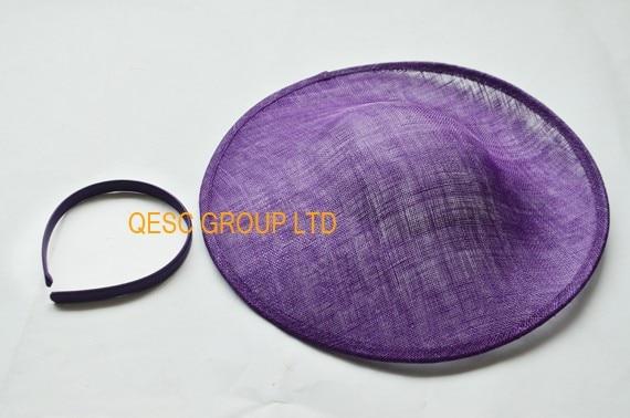 Фиолетовый блюдце диск Чародей Sinamay База 1.3 см атласная повязка для Sinamay чародей Дерби в Кентукки