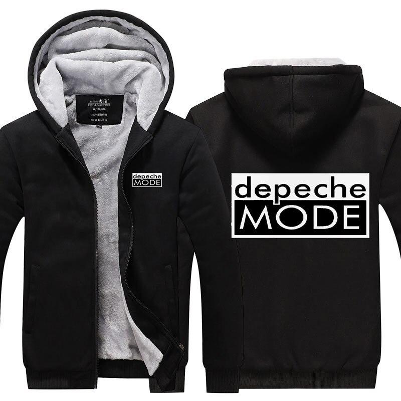 Depeche Mode sweats capuches hommes femmes intérieur polaire chaud hiver manteau hip hop DJ rappeur danseur survêtements veste à glissière