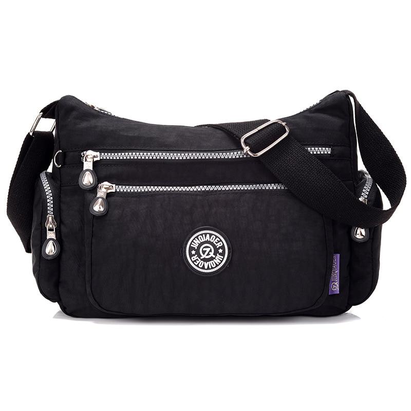 Nowe damskie torebki Solid Travel Wodoodporne torby na ramię Messenger Nylonowe torby dla kobiet Ladies Kobiet Bolsa Fashion Summer Style