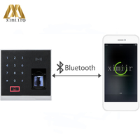 ZK Standalone fingerprint and 13.56MHZ reader access control without software X8 BT finger print door lock