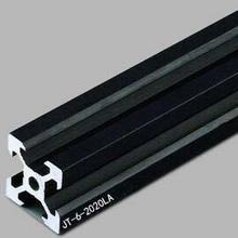 Произвольная резка 1000 мм V-slot черный алюминиевый экструзионный профиль, черный цвет