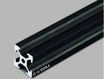 Arbitrary Cutting 1000mm 2020 V-slot Black Aluminum Extrusion Profile,Black Color.