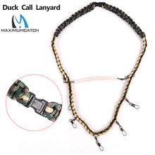 Check Discount Maximumcatch Duck Call Lanyard Premium Hand Braided Camo 550 Paracord Best For Outdoor Hunting Gear And Fishing