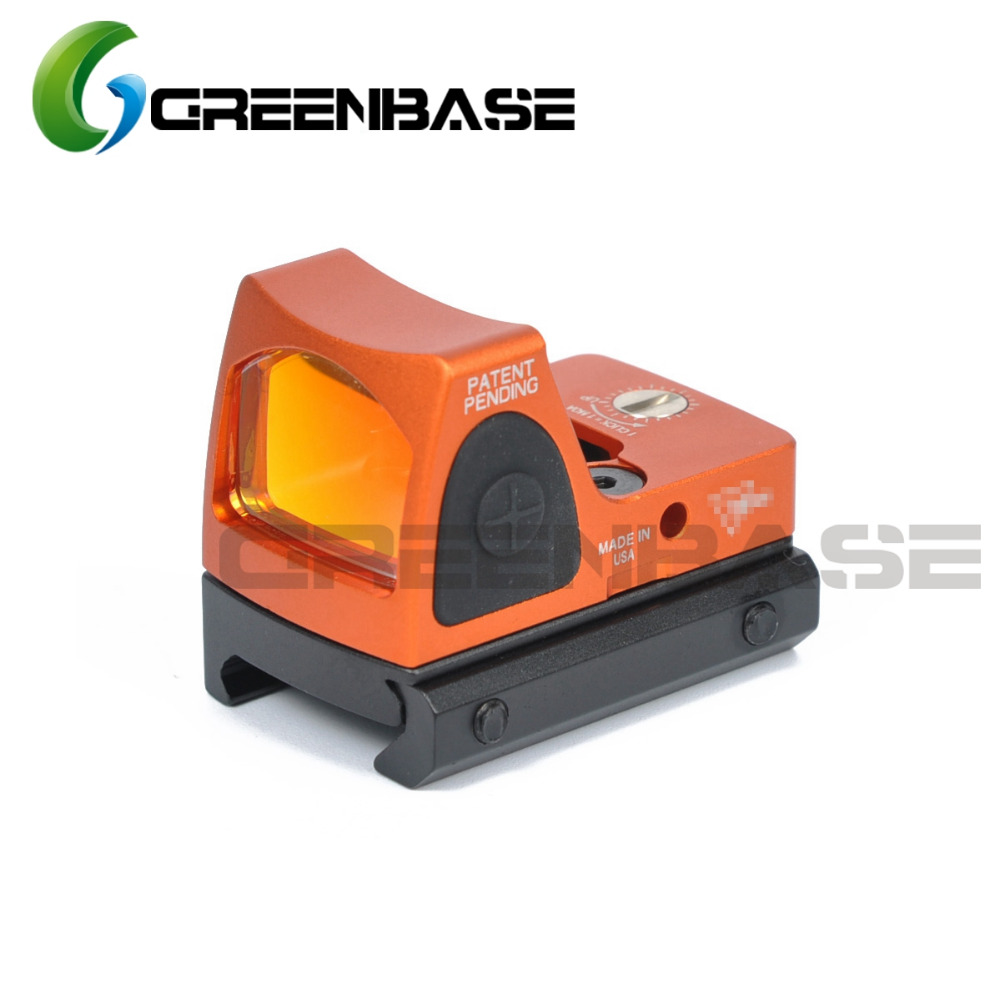 Greenbase Mirco RMR point rouge vue réglable 3.25 MOA Mini point rouge Reflex vue 1913 mont Picatinny Rail chasse Airsoft