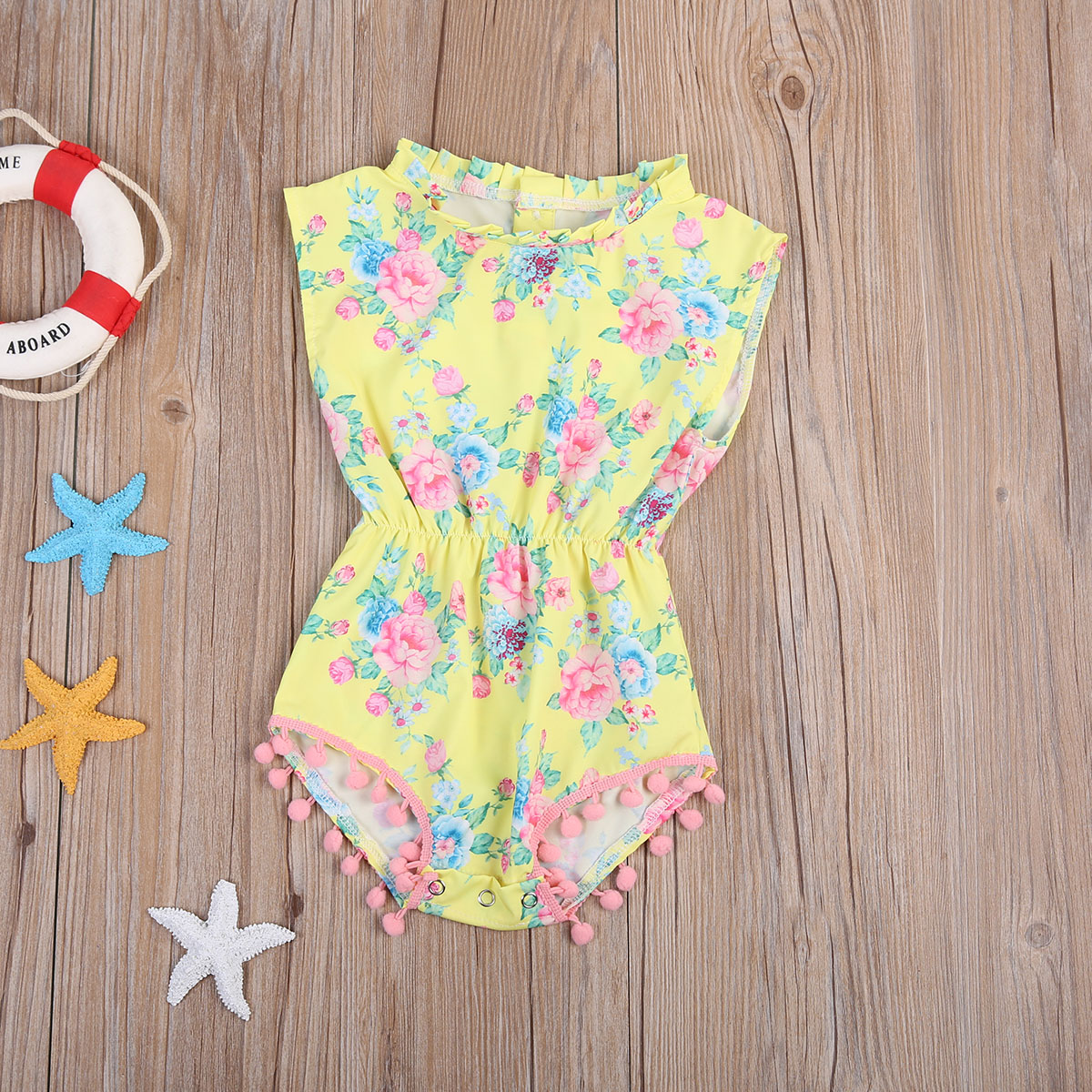 Adorable Sleeveless Kids Baby Girls Toddler Long Sleeve Floral Bodysuit Clothes Jumpsuit One-Pieces Outfits