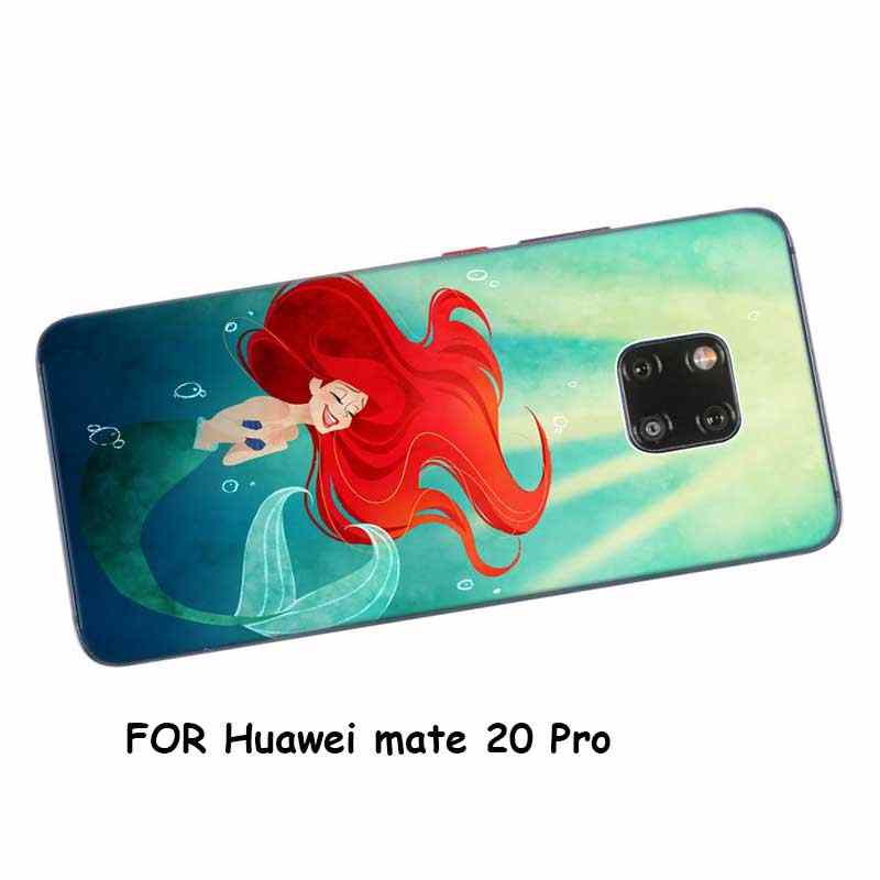Transparent Soft Silicone Phone Case Ariel little mermaid for huawei Mate 20 Lite Pro P Smart Plus Cover