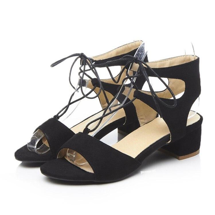 Zapatos Negro De Baile Dedos Sandalias Con Tacones Tiras Gladiador marrón Para Cruzadas Abiertos Mujer Cuadrados xHFnxYCOwq