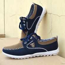 Мужские парусиновые туфли удобная повседневная обувь на плоской