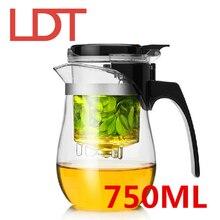 LDT 750 ML Handarbeit Glas Wasserkocher Lebensmittelqualität Filter Teekanne chinesische Kung Fu Tee-Sets Blume Tee Flasche Teekannen Drink Service