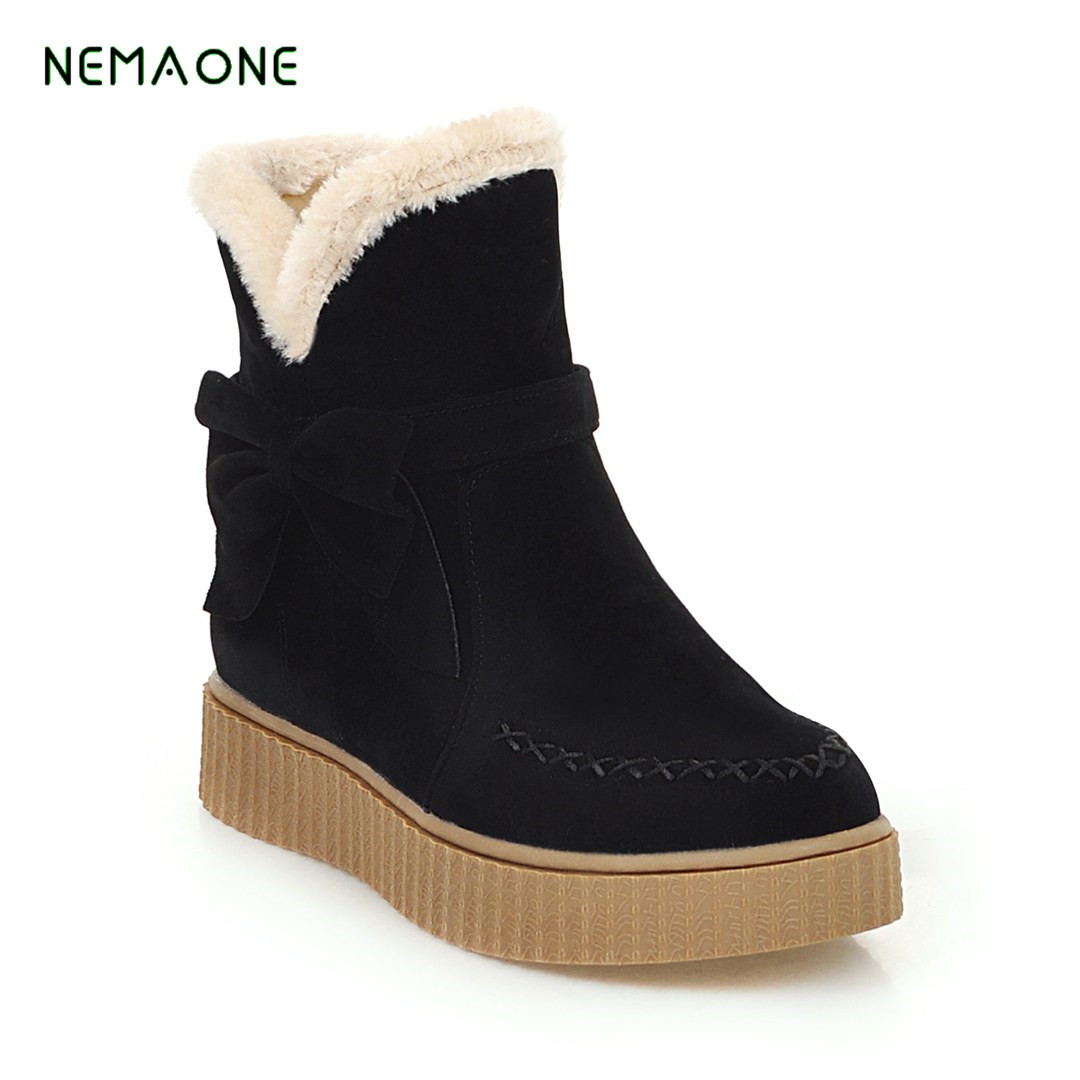 NEMAONE 2019 NEW Snow boots Winter brand warm non-slip women boots shoes casual cotton winter autumn boots female image