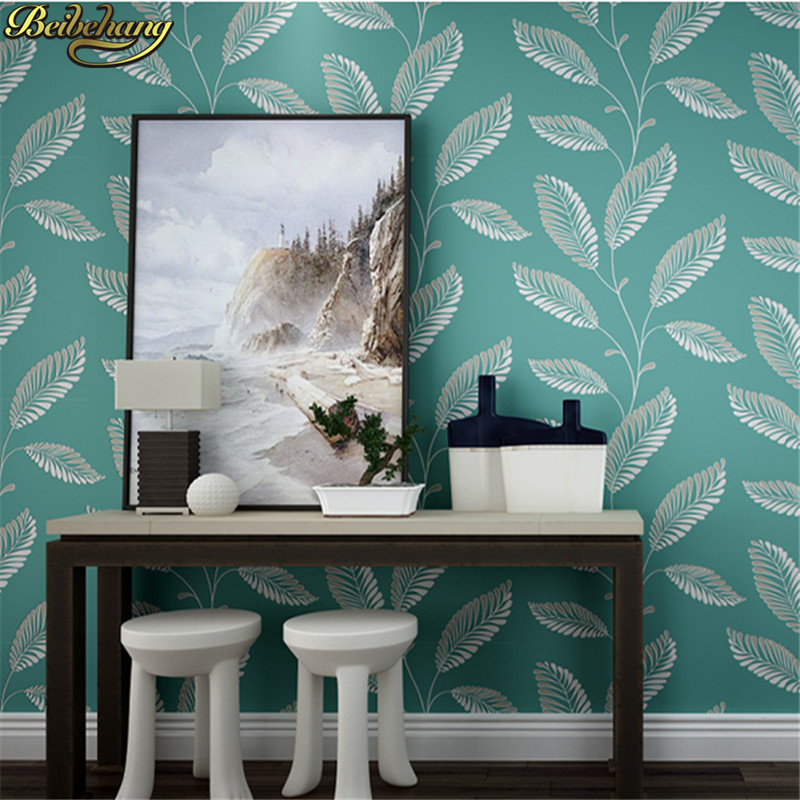 beibehang papel de parede 3D Modern minimalist leaves wallpaper for wall Paper Roll Bedroom living room leaf White background beibehang modern minimalist 3d photo wallpaper for walls 3d warm living room bedroom tv background papel de parede 3d wall paper