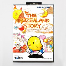 The Neszealand Story 16 bit MD card with Retail box for Sega MegaDrive Video Game console system