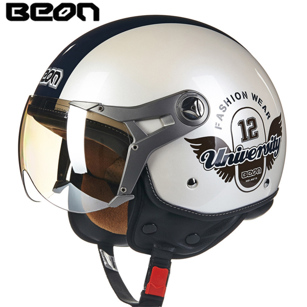 BEON B100 ECE Motorcycle Helmet Chopper 3/4 Open Face Vintage Helmet Moto Casque Casco motocicleta Capacete Moon Unisex helmets custom made car floor mats special for bmw x3 f25 waterproof all weather 3d car styling carpet floor liners 2011 now ryf