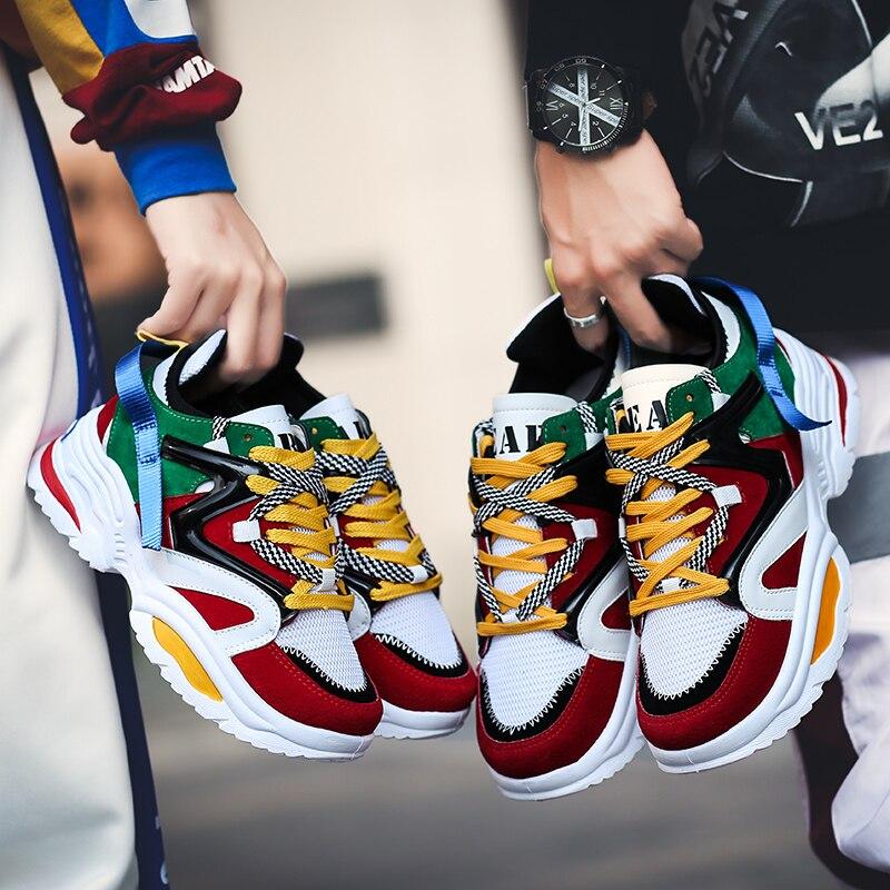 44 Casual Taille Automne colorful Wedge Haute Sneakers white Hombre Plus Black Vulcanisé forme Chaussures Hommes Plate Qualité Zapatillas Respirant qOnfrXO