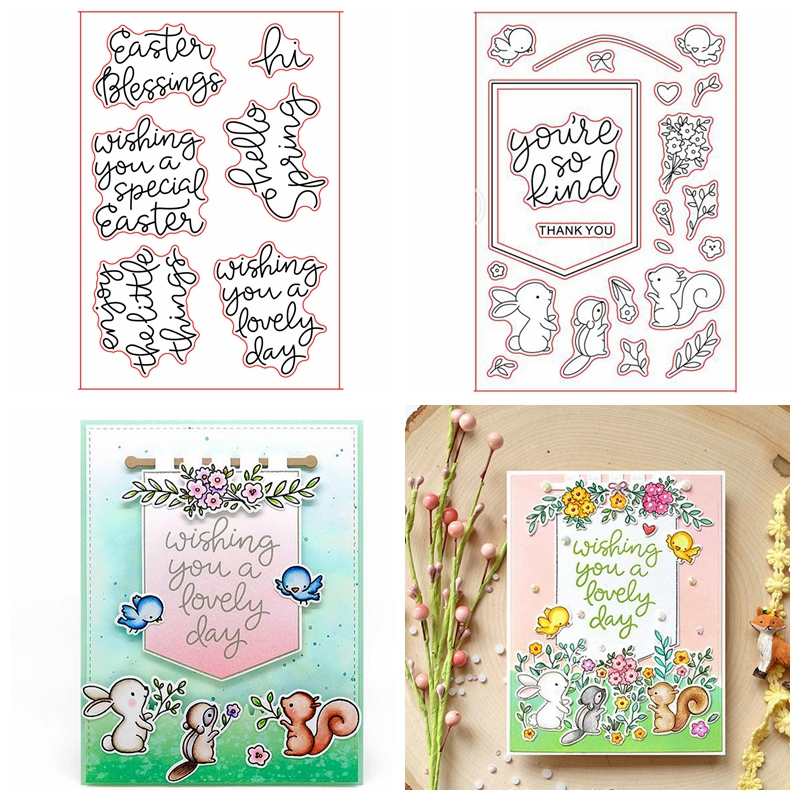 Spring Banner Buddies Transparent Clear Silicone Stamp Set For Diy Scrapbooking Photo Album Card Making Decorative Clear Stamp Stamps Aliexpress