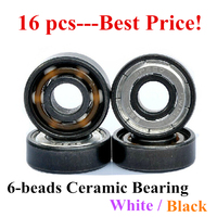 Best Price 16 Pcs Inline Speed Skates Roller Patins White Ceramic 608 Bearing ILQ 9 ILQ