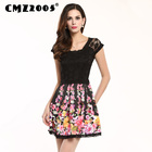 Save 27.84 on Hot Sale Women's Apparel High-Quality Printing Short Sleeve Round Neck Sexy Mini Fashion Summer Dress Personality Dresses 68053