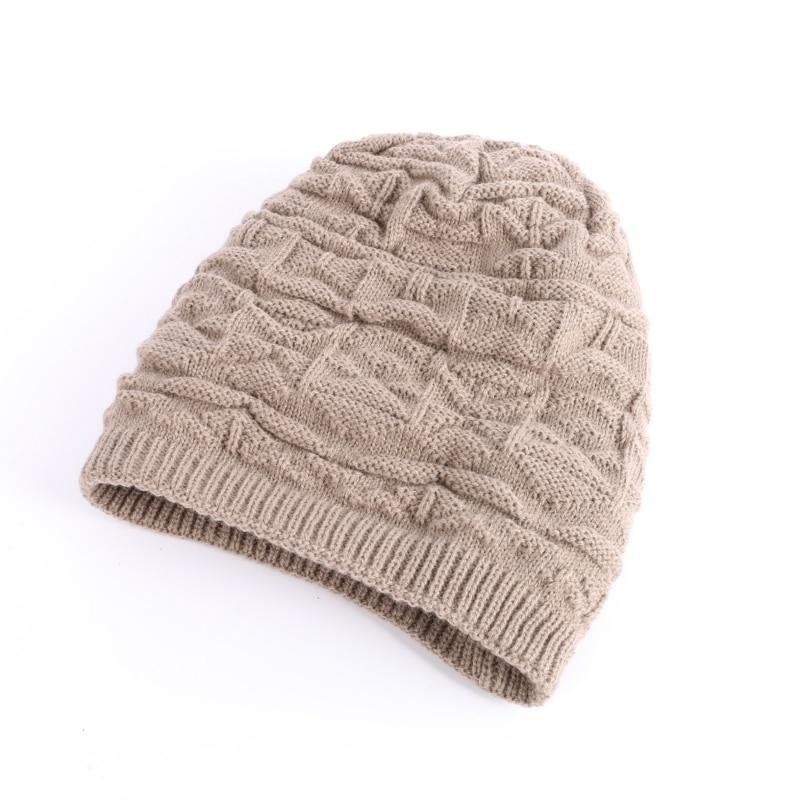 Cotton Mens Winter Cap Hat Baggy Beanie Knit Crochet Cashmere Hat hot winter beanie knit crochet ski hat plicate baggy oversized slouch unisex cap