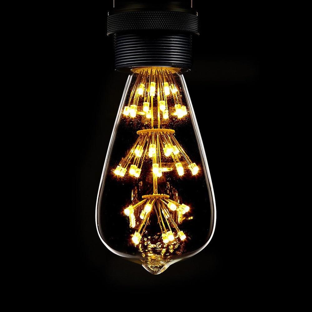 led filament bulb antique retro vintage 3w 220v240v led bulb e27 decorative bulbs st64 - Decorative Light Bulbs