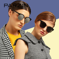 PARZIN TR90 Classic Round Sunglasses For Women Men Quality Polarized Driving Anti Glare Sunglasses With Original