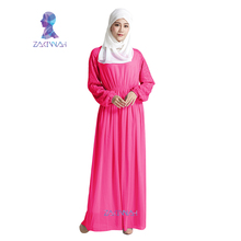 Fashion chiffon dress women kaftan abaya plus size