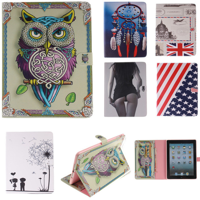 Tiger Lion Inside Pattern Pu Leather Case Cover For iPad Mini 4