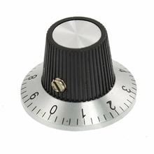 Uxcell Hot A Тип шкала 360 градусов циферблаты 10 поворотов концентрический регулятор громкости поворотный цифровой потенциометр ручка 6 мм вал