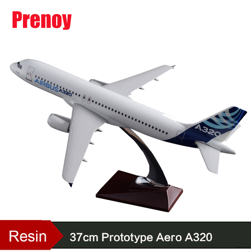 37cm Prototype Aero Model A320 Original Model Resin Airplane Aircraft Model Prototype A320 Aviation Airbus Creative Gift Toys