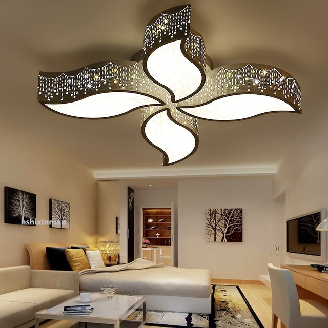 Warm and romantic romantic living room bedroom ceiling ...