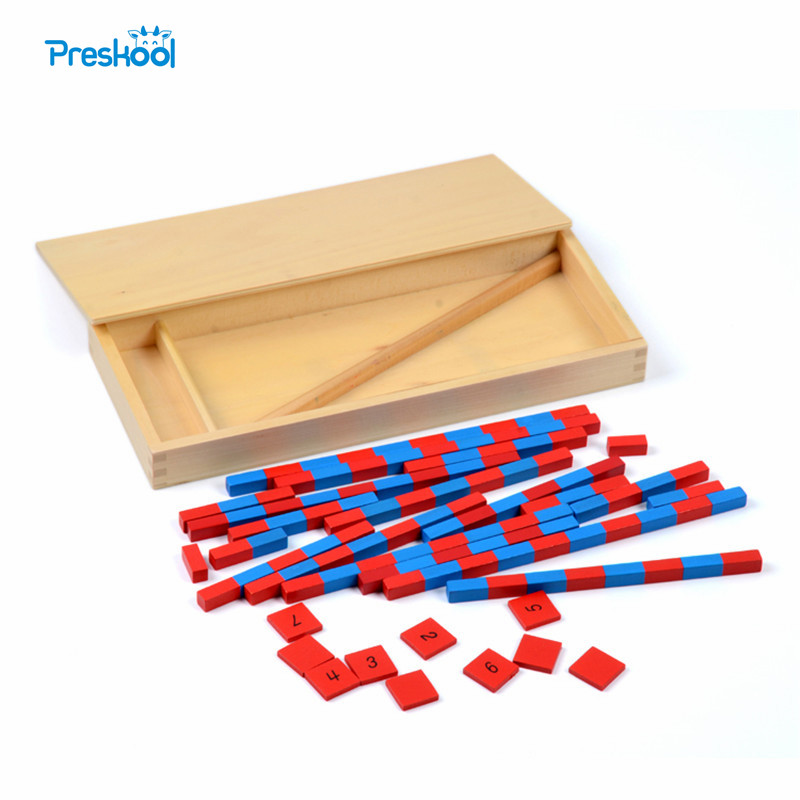 все цены на Baby Toy Small Numerical Rods Montessori Math Learning & Education Classic Wood Kids Toys Brinquedos Juguetes