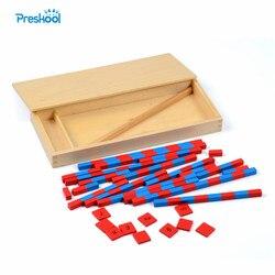 Juguete del bebé pequeño varillas numéricas Montessori matemáticas aprendizaje y educación clásico de madera los niños Juguetes Brinquedos Juguetes
